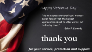 Thank you, Veterans…
